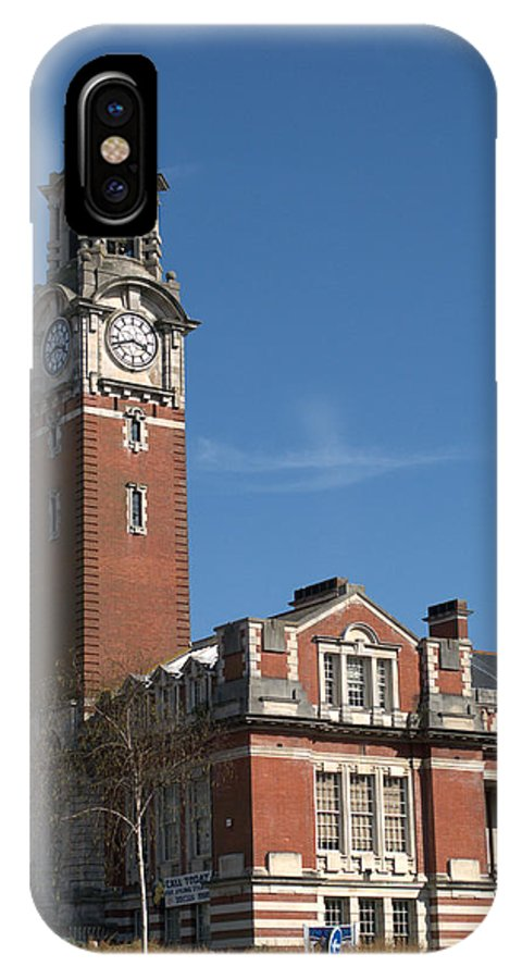 College IPhone X Case featuring the photograph Bournemouth College by Chris Day