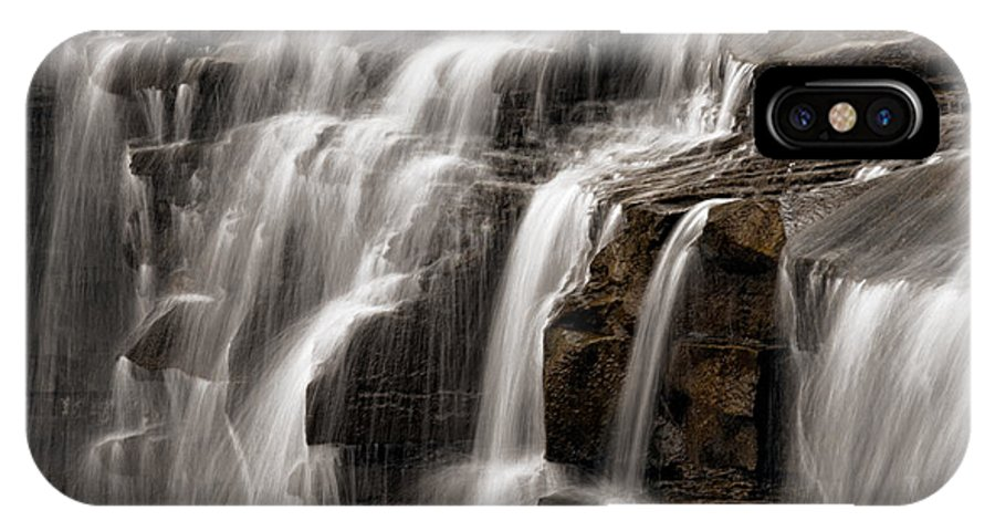 Water IPhone X Case featuring the photograph Brandywine Falls by Dale Kincaid