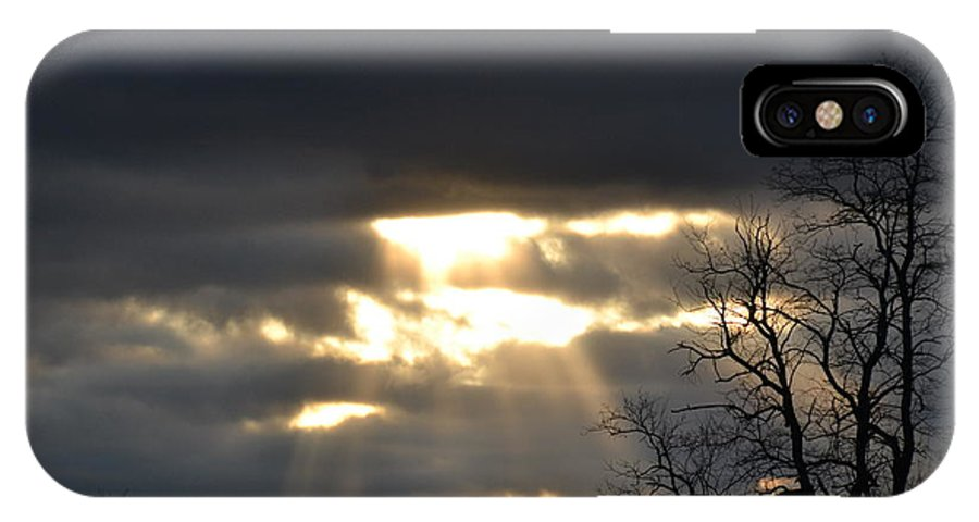 Cloud IPhone X Case featuring the photograph Break In The Clouds by Bonnie Myszka