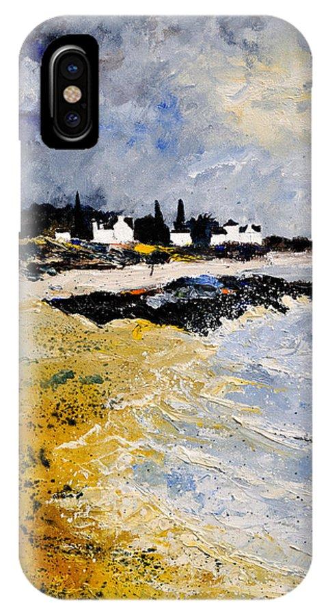Sescape IPhone X / XS Case featuring the painting Bretagne Sascape by Pol Ledent