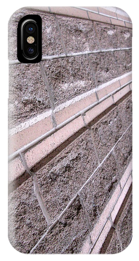 Brick IPhone X Case featuring the photograph Brick Rays by Ausra Huntington nee Paulauskaite