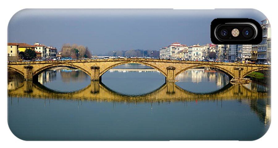 Bridge IPhone X Case featuring the photograph Bridge In Florence by Mats Silvan