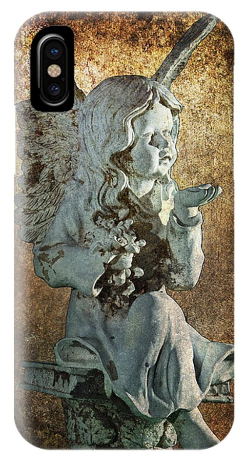 Art IPhone X Case featuring the photograph Broken Angel by Randall Nyhof