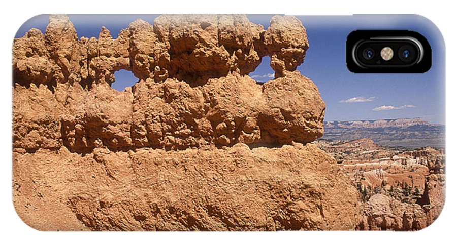 Bryce Canyon IPhone X Case featuring the photograph Bryce Canyon - Mask Formation by Sandra Bronstein