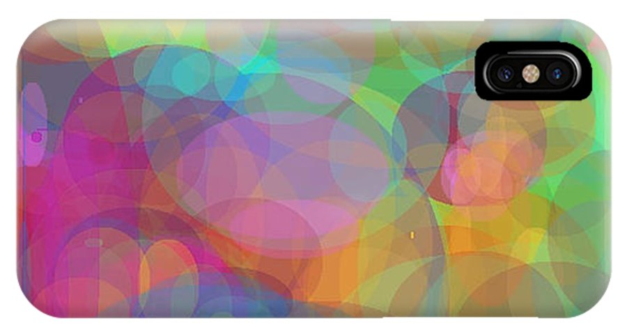 Bubbles IPhone X / XS Case featuring the painting Bubble Land by Naomi Jacobs
