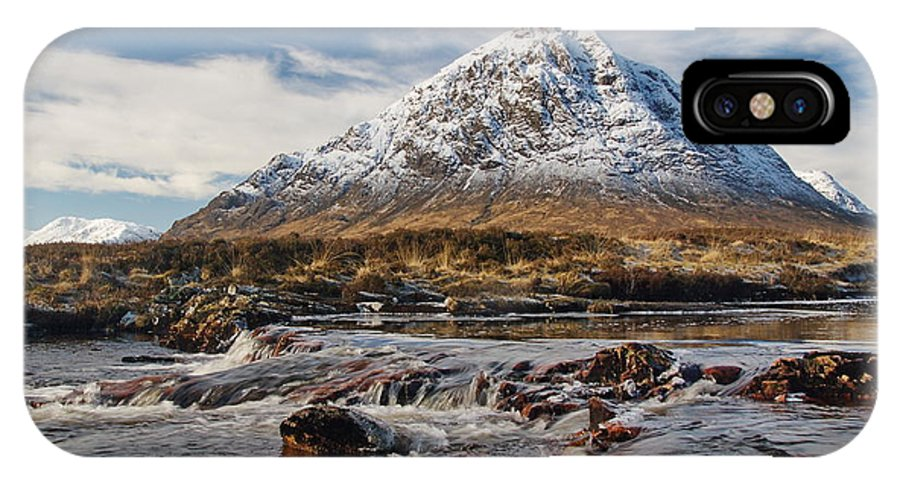 Scotland IPhone X Case featuring the digital art Buchaille Etive Mhor - Glencoe by Pat Speirs