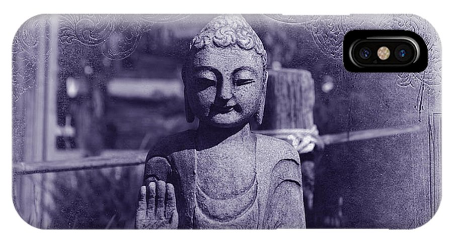 Buddha IPhone X / XS Case featuring the photograph Buddhas Words by Susanne Van Hulst