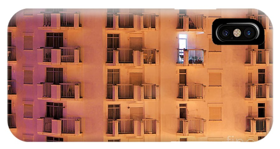 Apartment IPhone X Case featuring the photograph Building Facade by Carlos Caetano