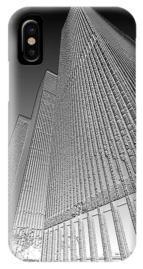 Building IPhone X / XS Case featuring the digital art Building In Monochrome by Pravine Chester