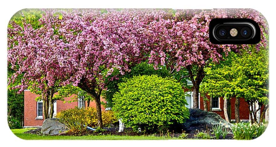 Blossoms IPhone X Case featuring the photograph Bursting Blossoms by Faith Harron Boudreau