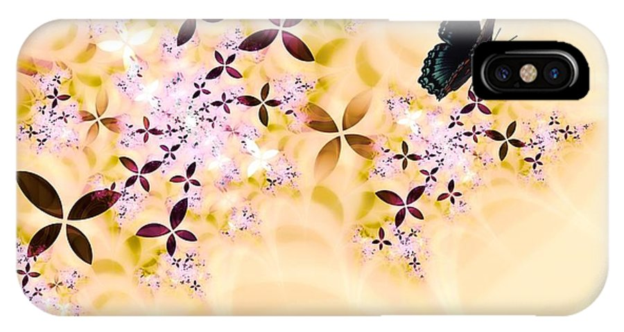 Butterfly IPhone X Case featuring the digital art Butterflies Paradise by Sharon Lisa Clarke