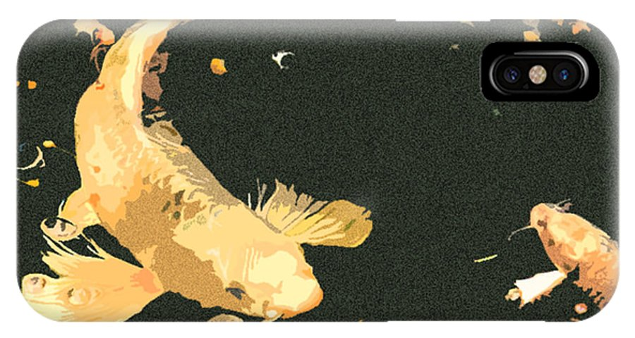 Koi IPhone X Case featuring the photograph Butterfly Koi by Stephanie Haertling