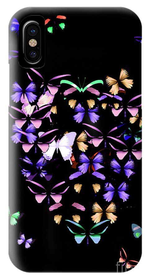 Butterfly IPhone X Case featuring the photograph Butterfly Love by Donna Bentley