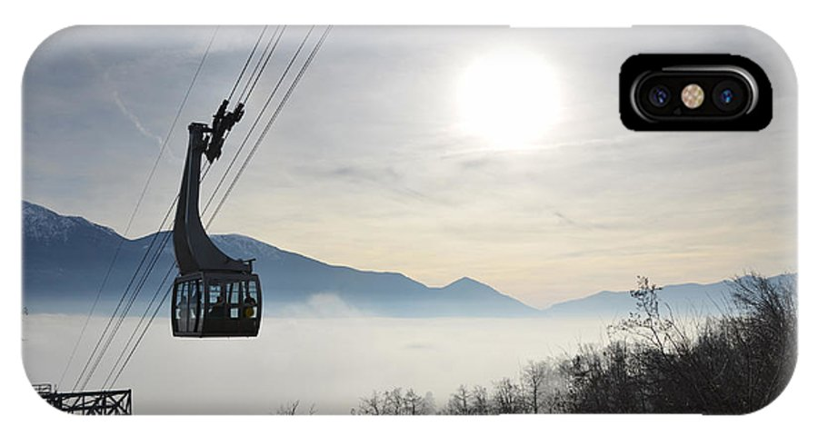 Cableway IPhone X Case featuring the photograph Cabelcar by Mats Silvan