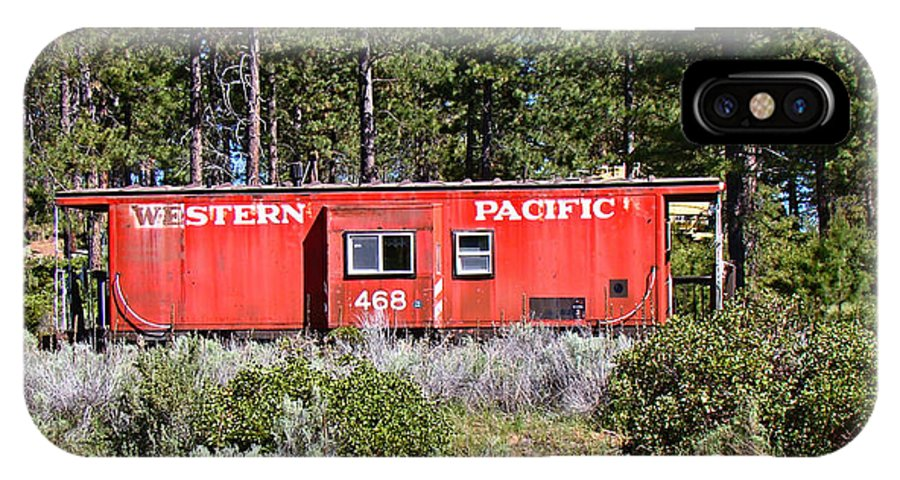 Caboose IPhone X Case featuring the photograph Cabin Car by Nick Kloepping