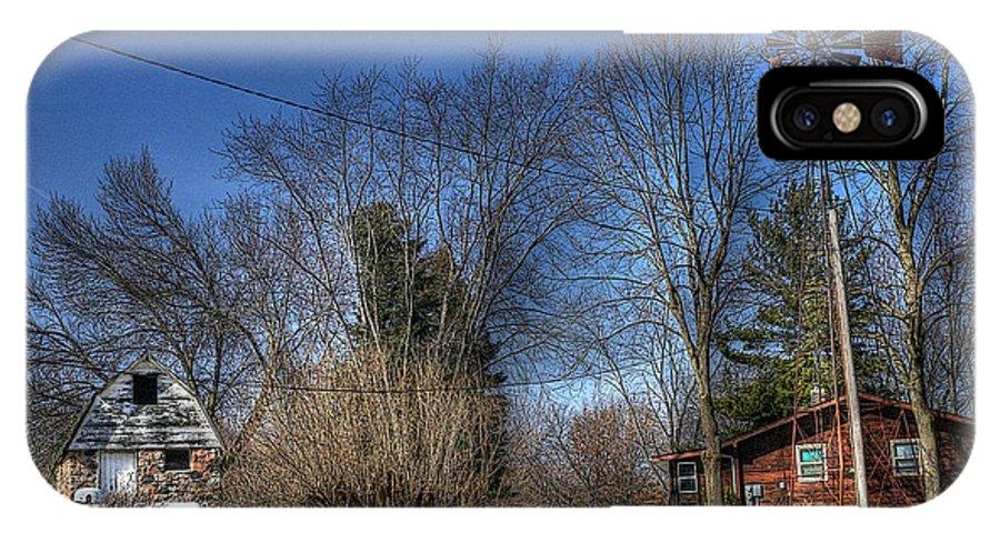 Cabin IPhone X Case featuring the photograph Cabin In The Woods by David Bearden