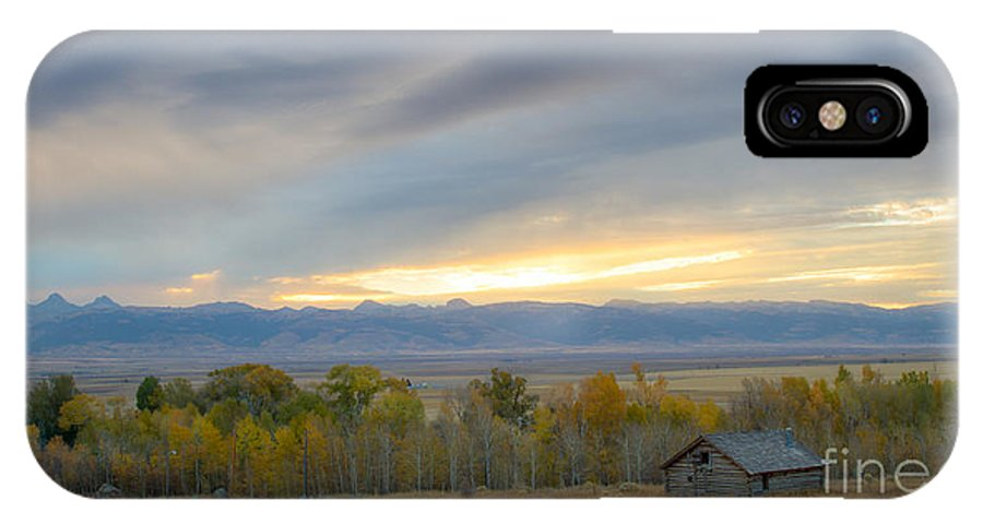 Idaho IPhone X Case featuring the photograph Cabin With A View by Idaho Scenic Images Linda Lantzy