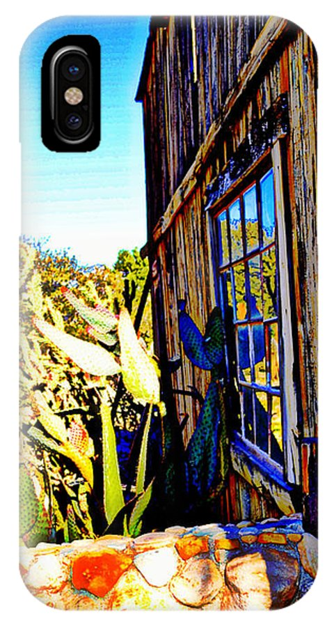 Ghost Town IPhone X Case featuring the photograph Cactus Reflection by Diane montana Jansson
