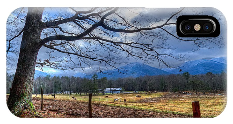 Appalachia IPhone X Case featuring the photograph Cades Cove Lane by Debra and Dave Vanderlaan