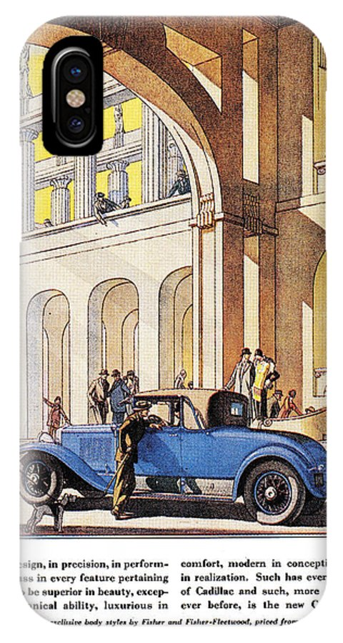 1927 IPhone X Case featuring the photograph Cadillac Ad, 1927 by Granger