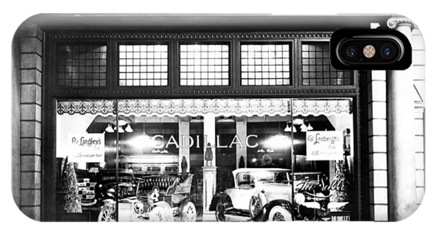 1927 IPhone X Case featuring the photograph Cadillac Storefront, 1927 by Granger