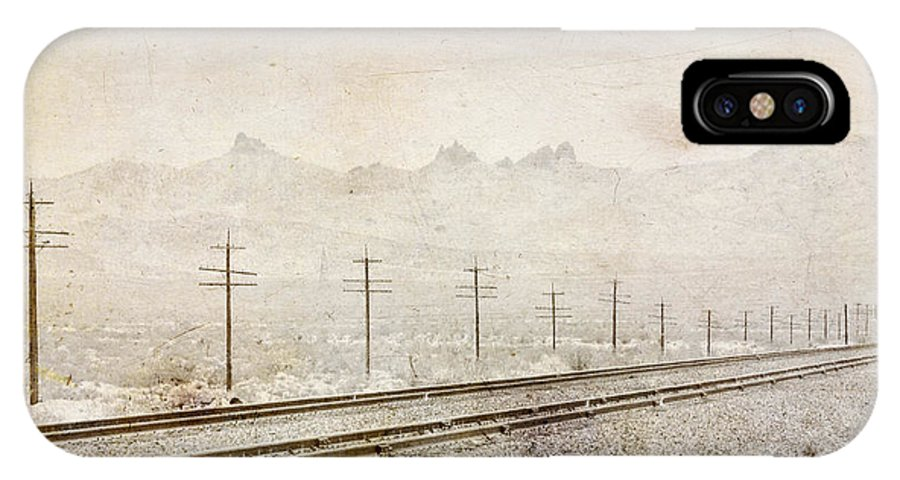 California IPhone X Case featuring the photograph California Railroad by Julie Niemela