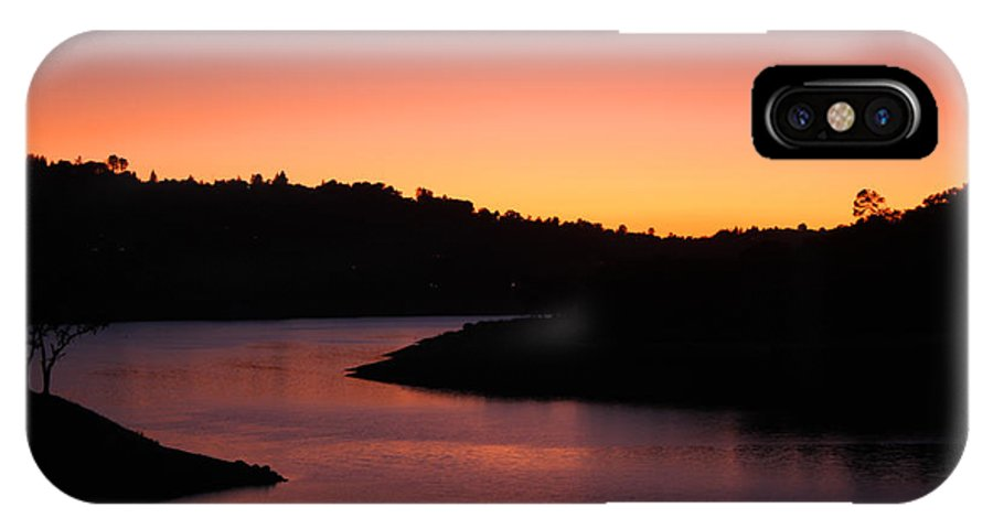 Lake IPhone X Case featuring the photograph California Sunset by Leonard Sharp