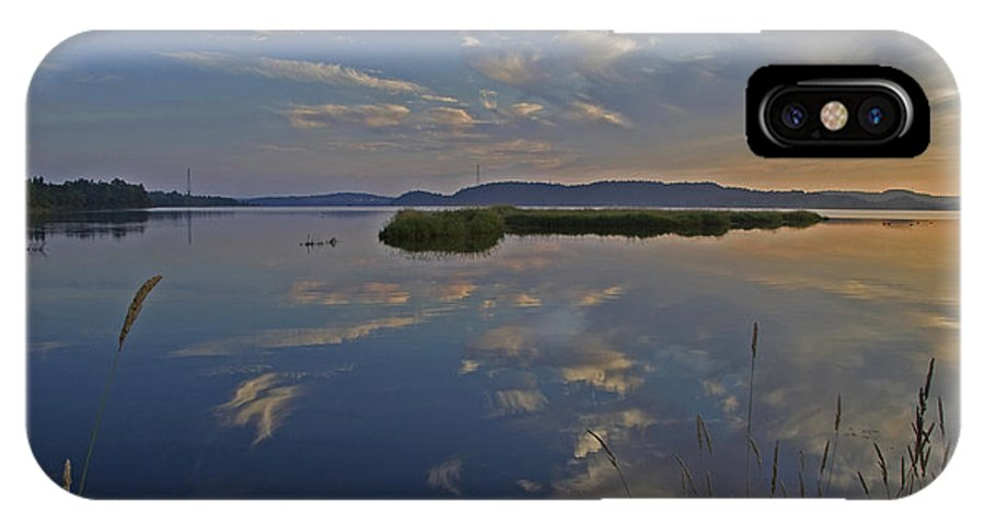 Water IPhone X Case featuring the photograph Calm Morning by Jeff Galbraith