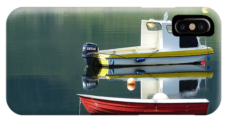 Rowing IPhone X Case featuring the photograph Calm Waters by Lynn Bolt