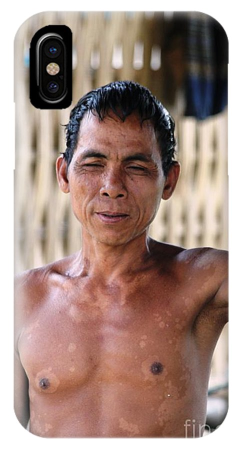 Man IPhone X / XS Case featuring the photograph Cambodian Dignity by Nola Lee Kelsey