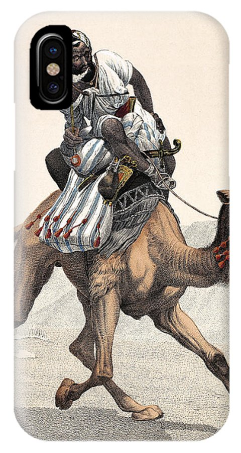 1853 IPhone X Case featuring the photograph Camel & Rider by Granger