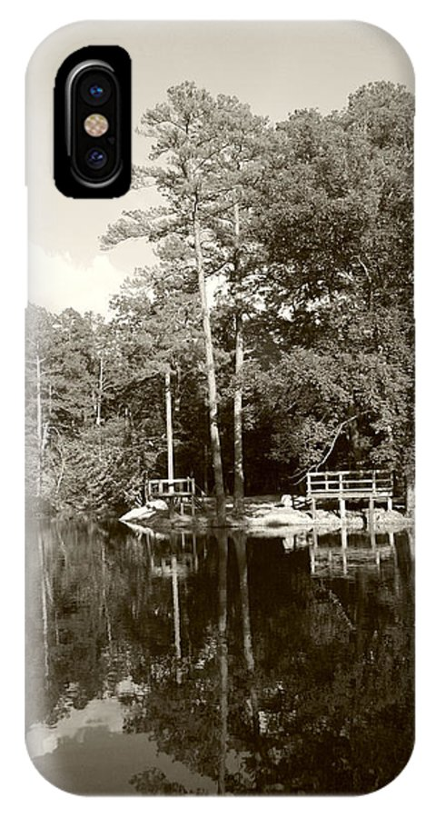 Lake IPhone X Case featuring the photograph Camp Lake by Nina Fosdick