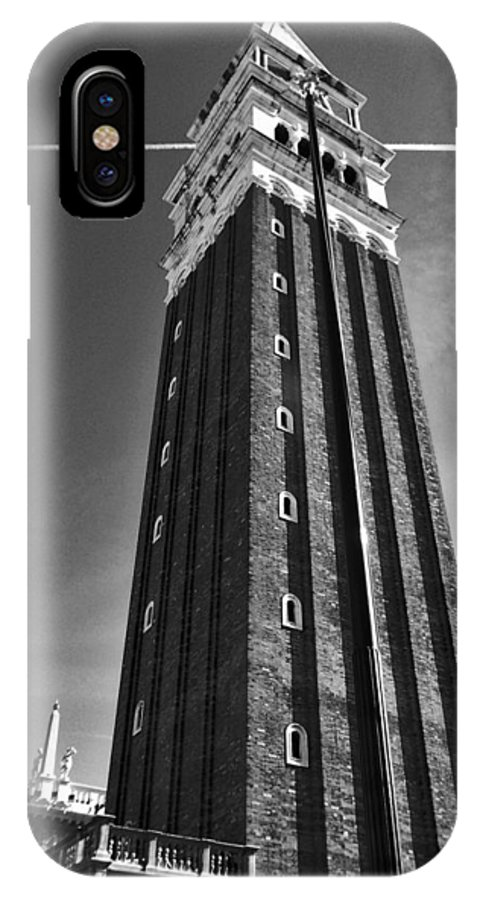 Venice IPhone X Case featuring the photograph Campanile San Marco In Venice by M Bleichner