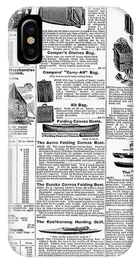 1895 IPhone X Case featuring the photograph Camping Equipment, 1895 by Granger