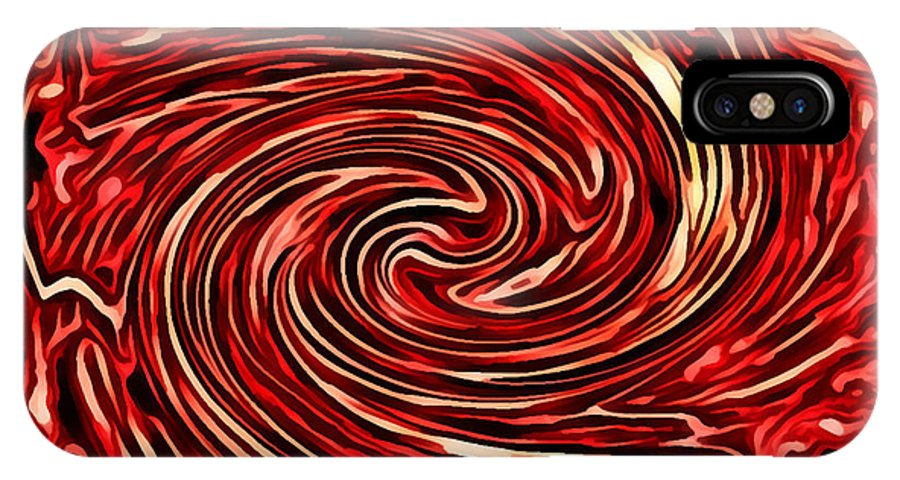 Pink IPhone X Case featuring the digital art Candy Swirls by Rhonda Barrett