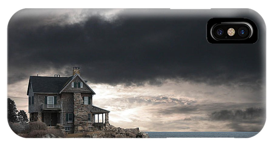 Clouds IPhone X Case featuring the photograph Cape Arundel Revisited by Guy Whiteley