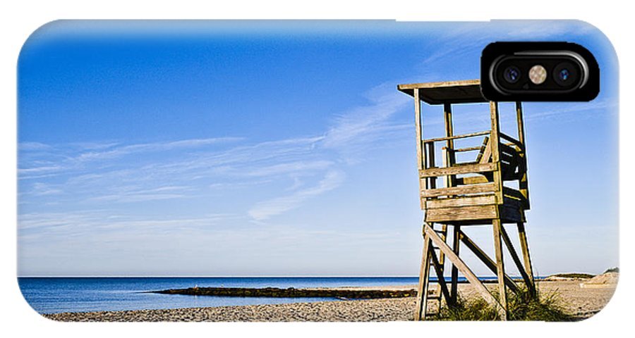 Beach IPhone X Case featuring the photograph Cape Cod Lifeguard Stand by John Greim
