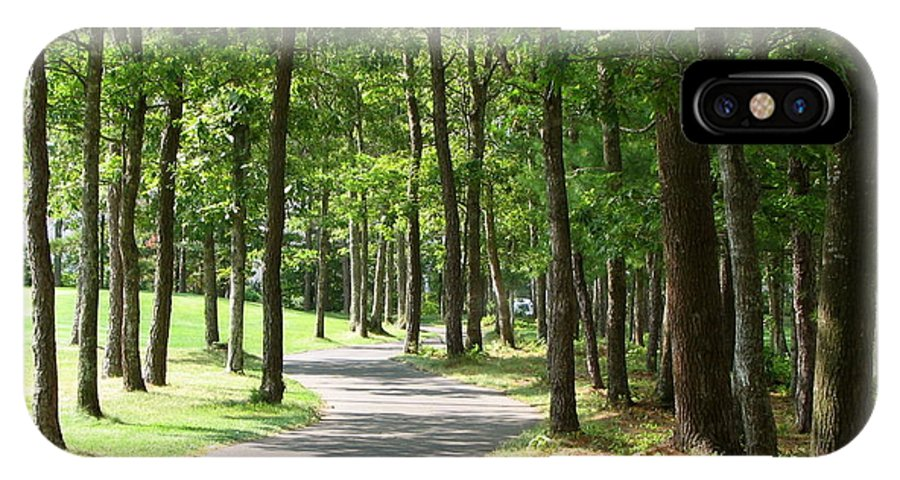 Walking Path IPhone X Case featuring the photograph Cape Cod Walking Path by Jan Cipolla
