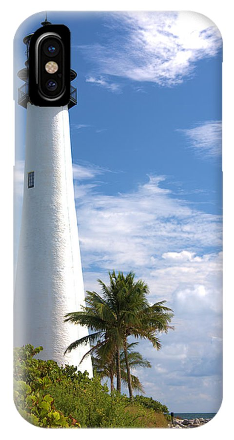 Beacon IPhone X Case featuring the photograph Cape Florida Lighthouse by Rudy Umans