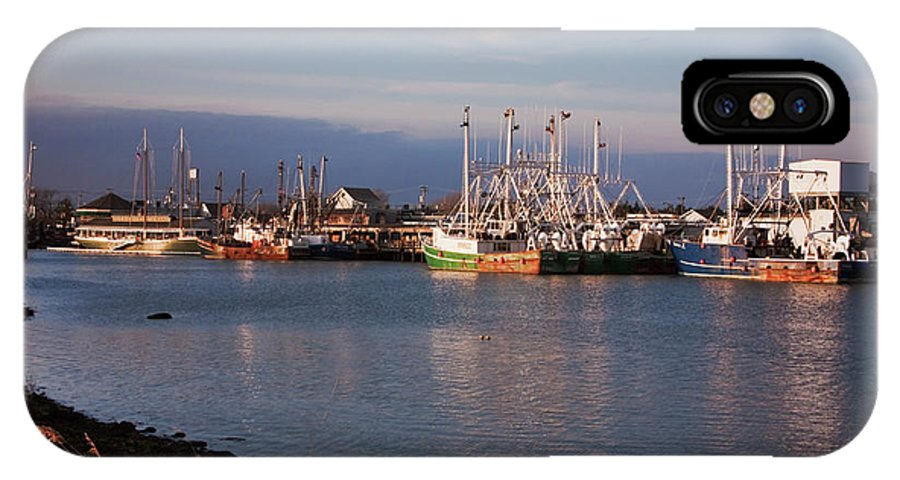 Cape May New Jersey IPhone X Case featuring the photograph Cape May Fishing Boats by Tom Singleton