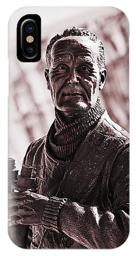 Royal Navy IPhone X Case featuring the photograph Captain F J Walker by Meirion Matthias