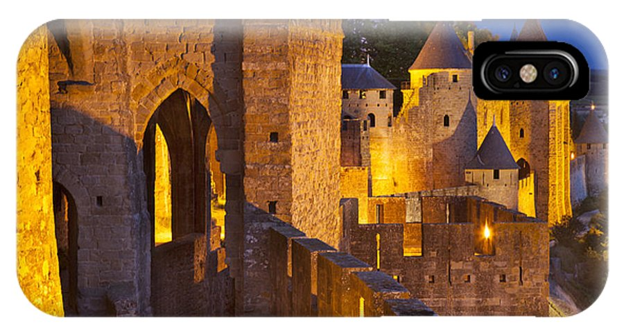 Architecture IPhone X Case featuring the photograph Carcassonne Ramparts by Brian Jannsen