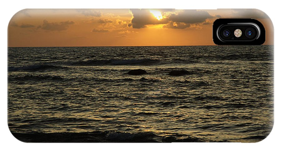 Sunrise IPhone X Case featuring the photograph Caribbean Sunrise by Barry Doherty