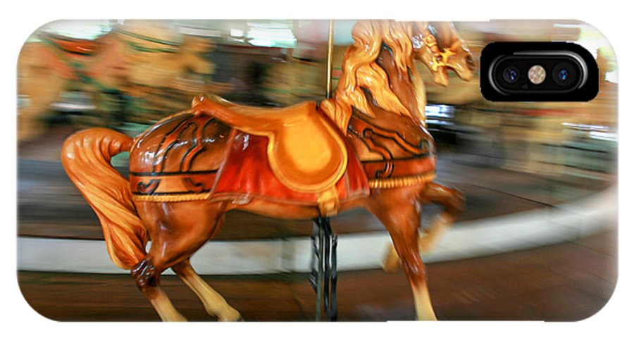 Carousel IPhone X Case featuring the photograph Carousel Horse by Ken Marsh