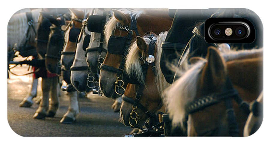 Horses IPhone X Case featuring the photograph Carriage Horses by Anthony Citro