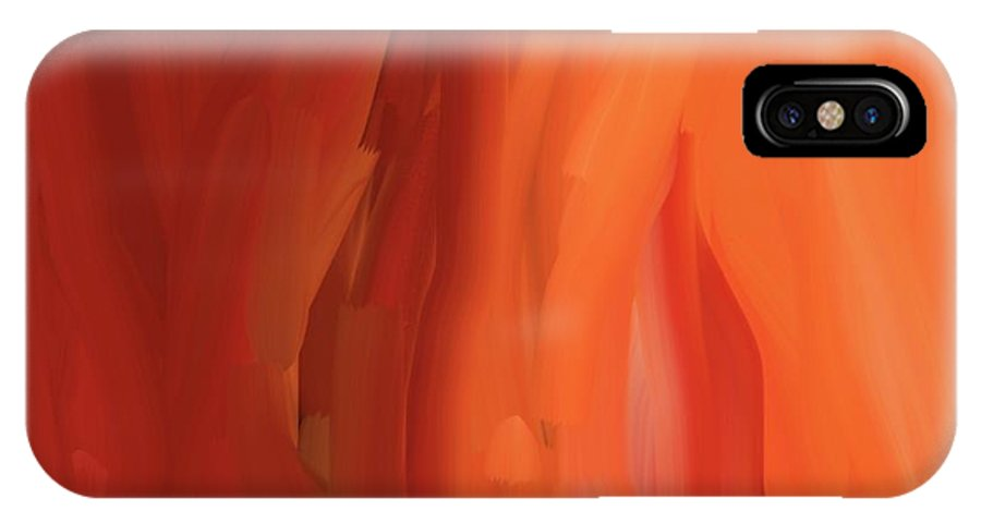 Abstract Art IPhone X Case featuring the painting Carrot Visions by Naomi Jacobs