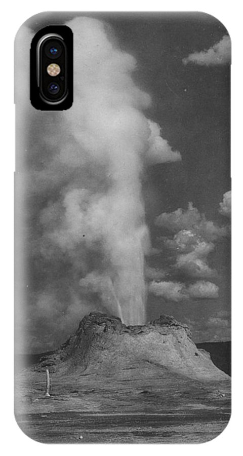 Yellowstone IPhone X Case featuring the photograph Castle Geyser Yellowstone by Bonfire Photography
