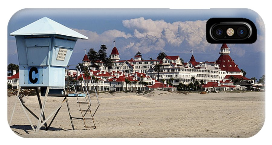 Beach IPhone X Case featuring the photograph Castle On The Beach by Meagan Suedkamp