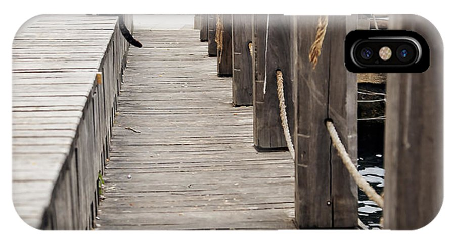 Generic IPhone X Case featuring the photograph Cat On Bosporus Wharf by Kantilal Patel