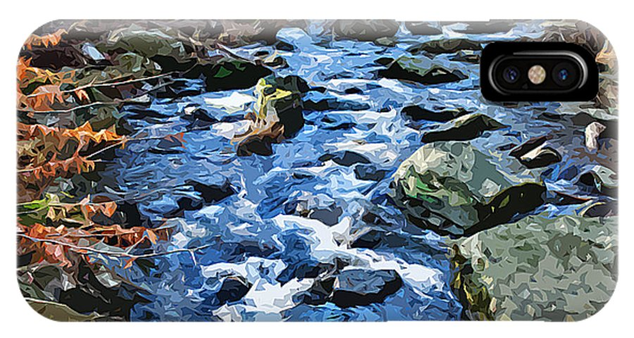 Catoctin Mountain Park IPhone X Case featuring the digital art Catoctin Stream by Stephen Younts